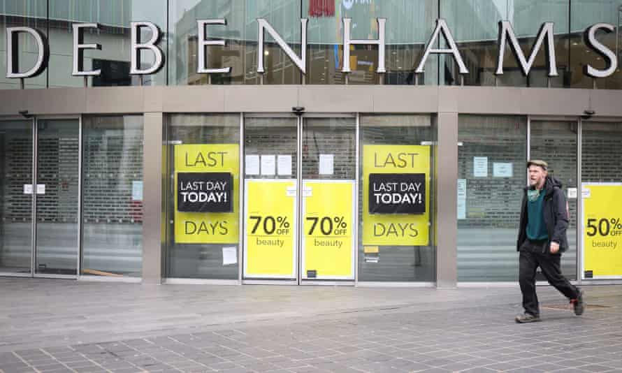 A closing-down Debenhams store in Liverpool