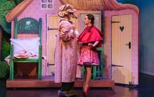 Harris Beattie and Julie Nunès in Little Red Riding Hood.