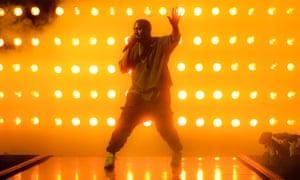 Kanye West performing in 2015.