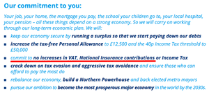 The Tory party's 2015 manifesto pledge on VAT