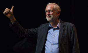 Jeremy Corbyn at the public launch of his campaign to remain Labour leader
