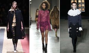 Salem style on the catwalk. Prada, Topshop, Osman.