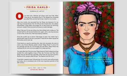 Frida Kahlo's spread in Good Night Stories For Rebel Girls.