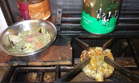 Food left by a hob at Chai Wallah