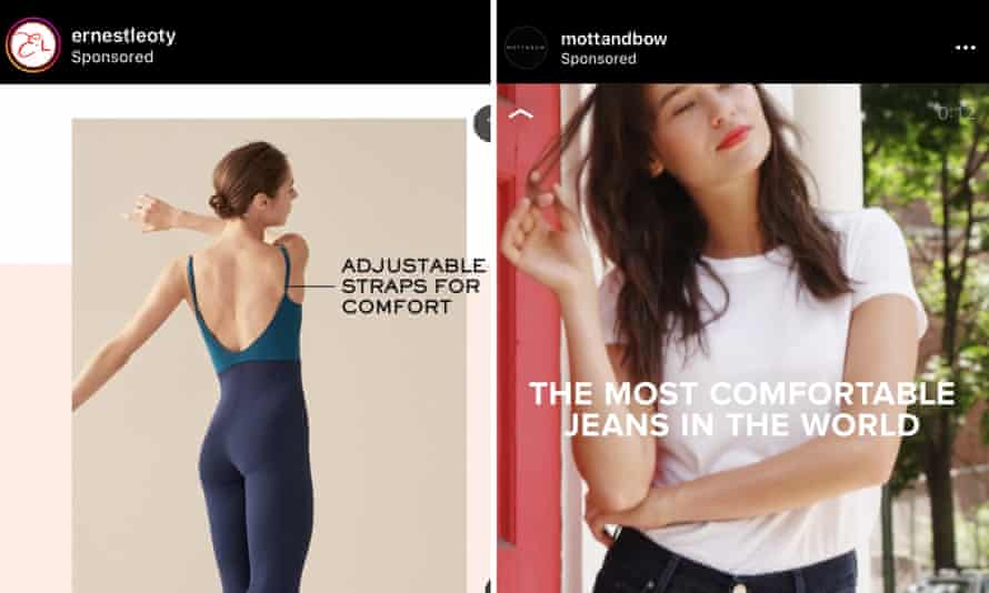Brands advertising how comfortable their clothing is on Instagram.