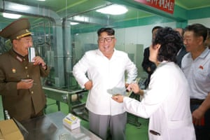 Kim inspects 525 factory.