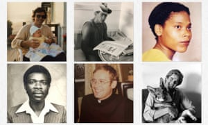 Images from #theaidsmemorial, top row (l-r): Perry Ellis, David Burns, Karyn Foster, bottom row: Anthony Kabungo, Rev Charles Bewick, Bill Rizzo. Photograph: Tyler Ellis, Nora Burn, Ashlee Foster, courtesy of Joan Dellavalle, courtesy of Vanessa Crawford, Lucien Samaha / @luciensamaha_onfilm