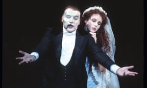 Michael Crawford and Sarah Brightman in The Phantom of the Opera, 1986.