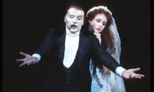 Michael Crawford and Sarah Brightman in The Phantom of the Opera, directed by Hal Prince.