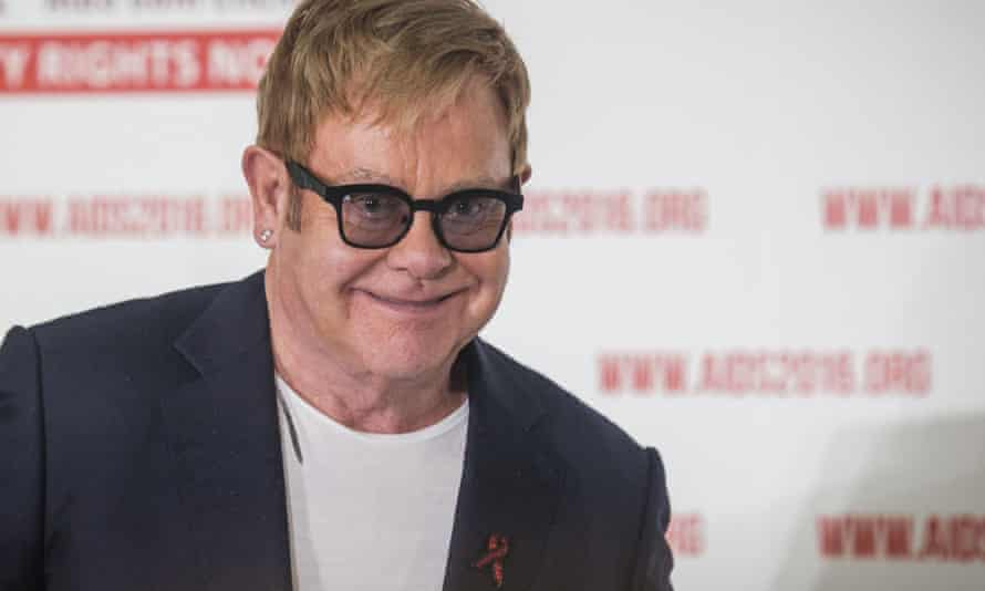 Elton John at the launch of his fund to support LGBT Africans during the international Aids conference in Durban.
