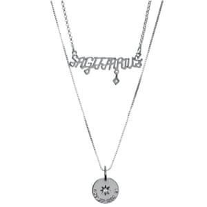 Sagittarius silver necklace, £26, luvaj.com
