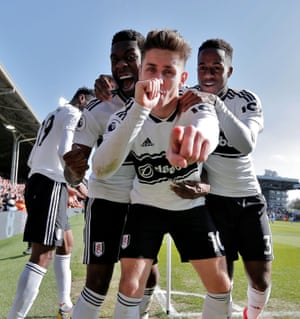 Fulham's Tom Cairney celebrates scoring the opening goal as Fulham beat Everton 2-0 at Craven Cottage and ending a run of nine successive defeats with their first Premier League win since January. Cairney's goal was his first in the Premier League since netting versus Everton in March 2010 for Hull - 3,324 days ago.