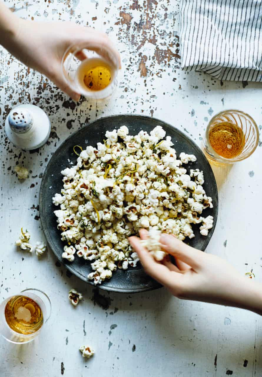 Lemon and dill (yes, dill) popcorn.