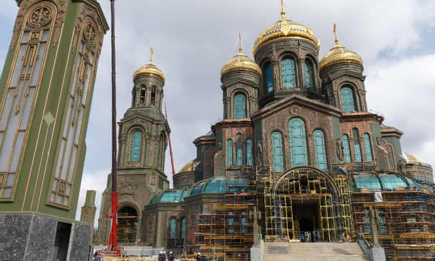 A picture made available by the press service of the Russian defence ministry shows the cathedral