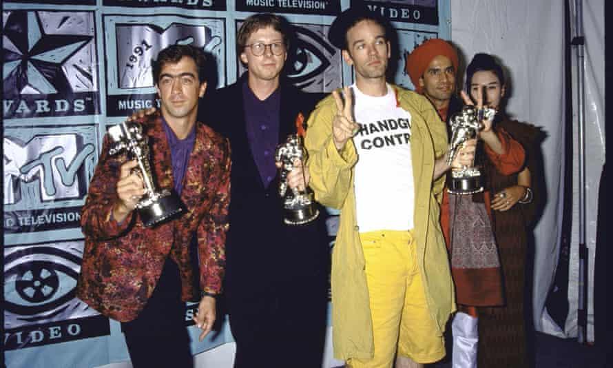 REM at the 1991 MTV awards