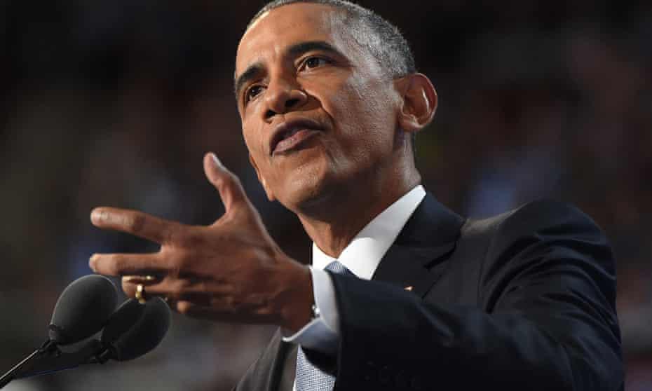 US President Barack Obama speaking in July 2016