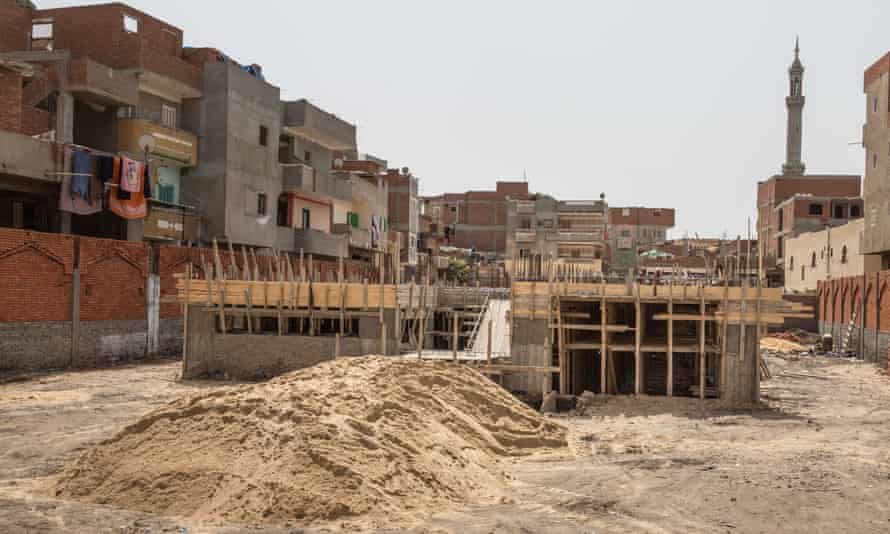 A school being built in Nagrig that is being funded by the Mohamed Salah Charitable Foundation.