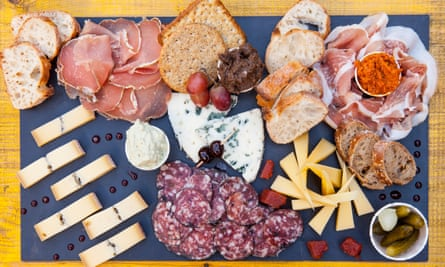 'Handsome display': cheese and charcuterie.