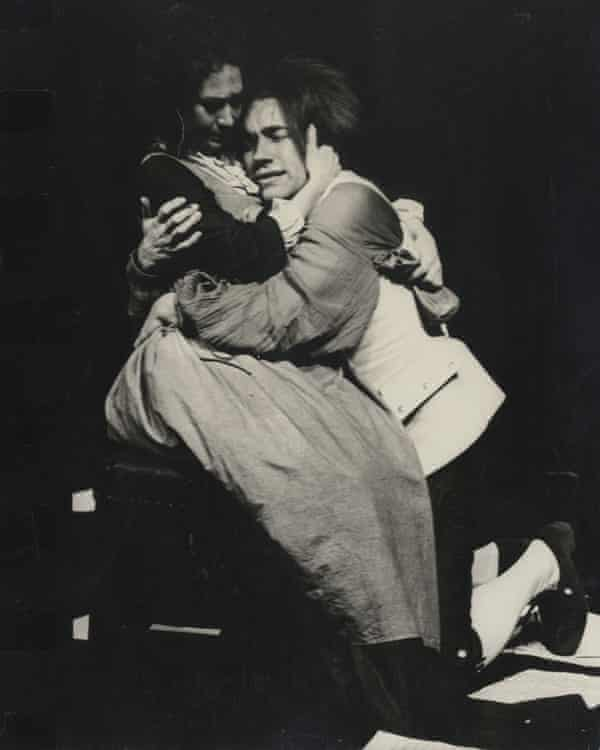 Felicity Kendal as Constanze Weber, with Simon Callow, in the 1979 National Theatre production.