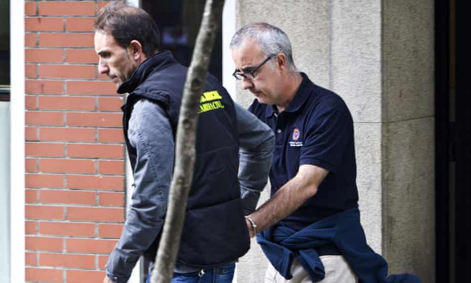 Alfonso Basterra is arrested