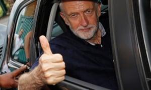 Displays of stamina … Jeremy Corbyn.