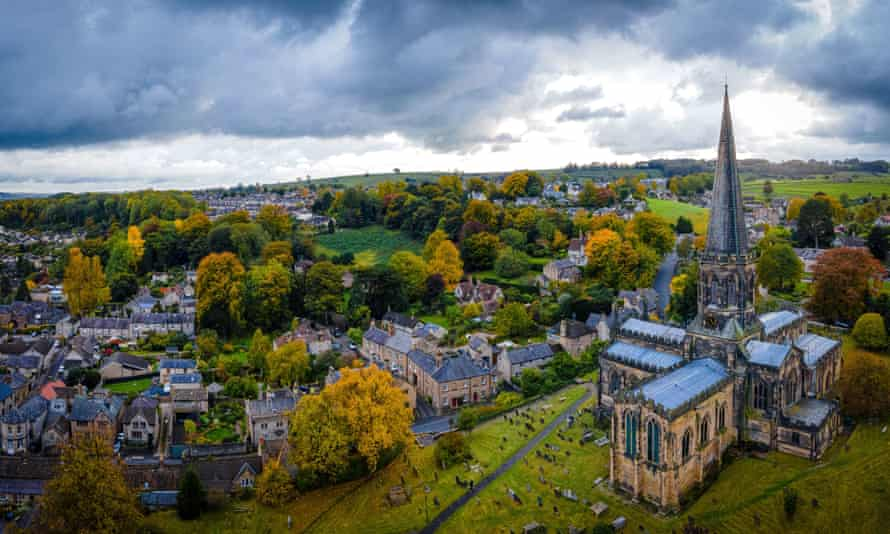 View of All Saints Church in Bakewell, in the Derbyshire Dales, England.