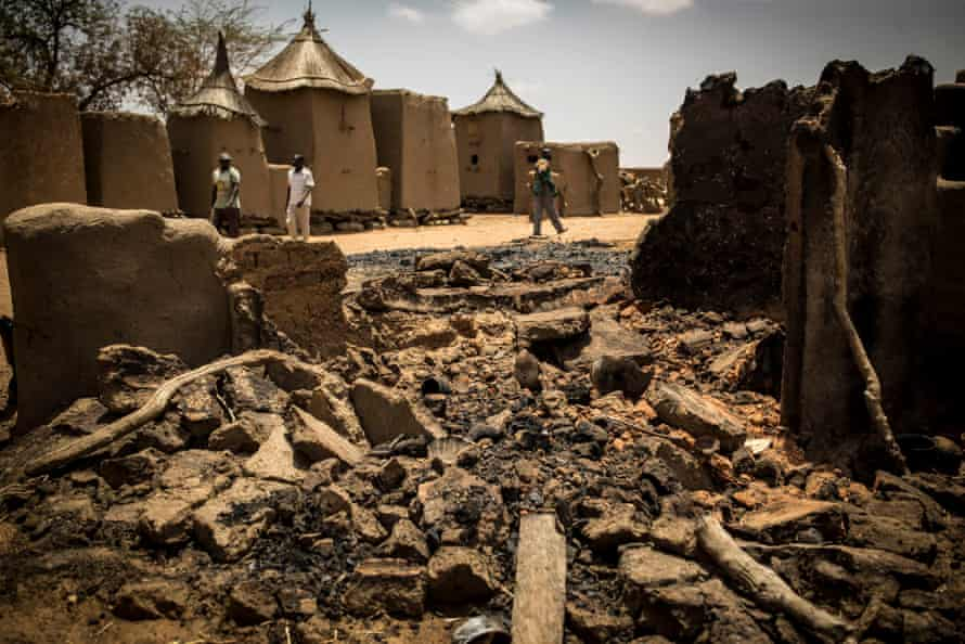 The Dogon village of Sobane Da, in the Mopti region, where 35 people were massacred in 2019, including women and children.  The Fulanis were blamed for the attack.