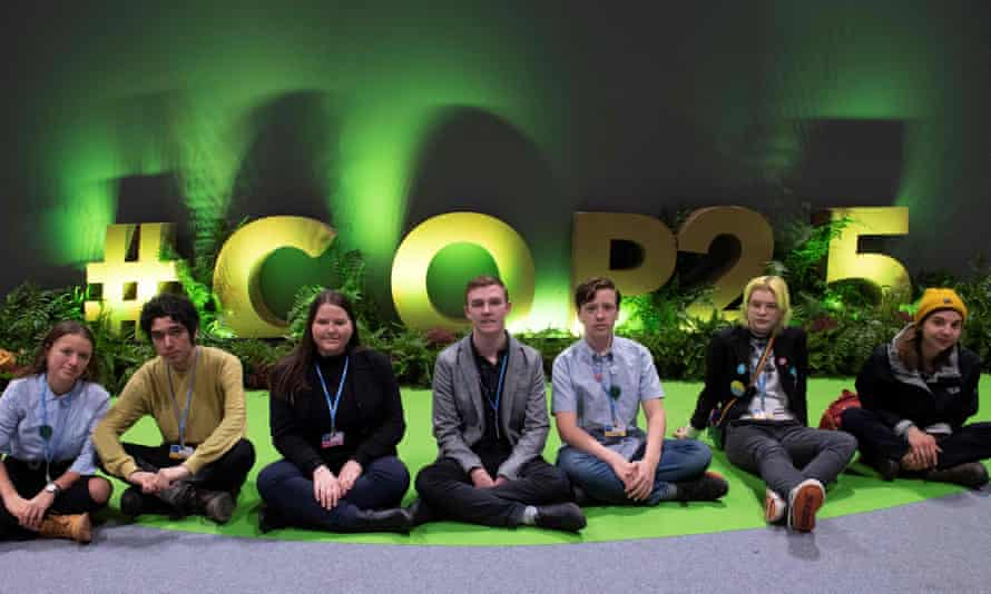 Arshak Makichyian at the COP25 gathering in Madrid.
