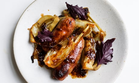 Nigel Slater's sausages with fennel recipe