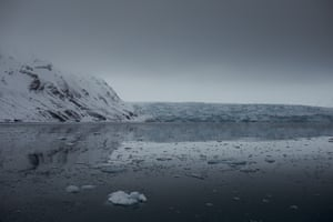 Svalbard's Dahlbreen glacier.