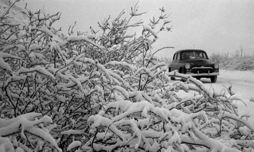 Winter in the Magadan region in the 1950s