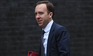 Matthew Hancock in Downing Street