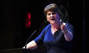 DUP leader, Arlene Foster