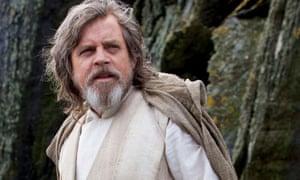 Hair-raising … Mark Hamill in Star Wars: Episode VIII (2017).