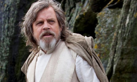 Walking here ... Mark Hamill in Star Wars: Episode VIII