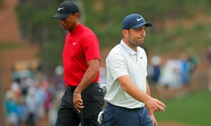 Going into the final round of the Masters in 2019, the Open champion Francesco Molinari (right) topped the leaderboard.
