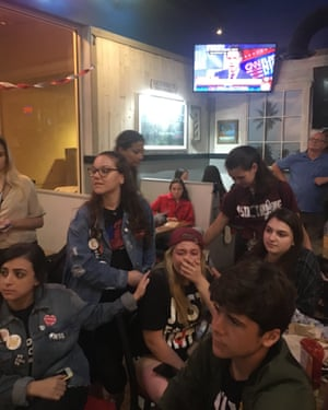 Parkland students watch midterms results roll in.