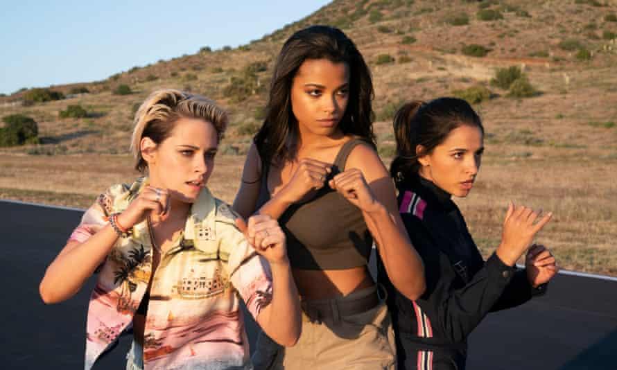 Kristen Stewart, Ella Balinska and Naomi Scott in Charlie's Angels.