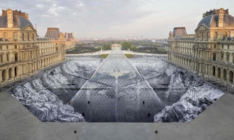 Visitors shred artist's huge Louvre paper artwork in one day
