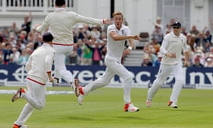 Stuart Broad often has inspired spells, feeding off the support from the crowd.