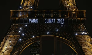 A message on the Eiffel Tower