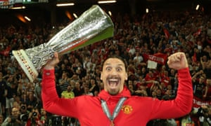 Zlatan Ibrahimovic celebrates the victory