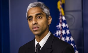 US surgeon general vice admiral Vivek Murthy at a White House press briefing