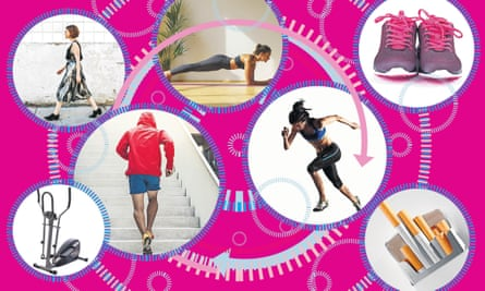 Illustration showing ways to exercise
