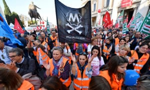 Rome's citizens marched in protest against the city's deteriorating condition.