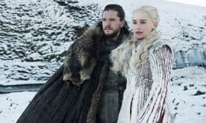 Jon Snow (Kit Harington) and Daenerys Targaryen (Emilia Clarke) in the final season of Game of Thrones