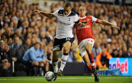 Steven Caulker, here playing for Tottenham against Arsenal in 2010, says he 'made a big mistake leaving Spurs'.