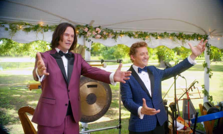 Keanu Reeves and Alex Winter in Bill & Ted Face the Music.