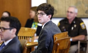 Owen Labrie looks around the courtroom during his trial, in Merrimack County superior court, Concord, New Hampshire.
