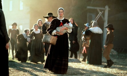 Puritan punishment … Demi Moore as Hester Prynne in the 1995 film of The Scarlet Letter.